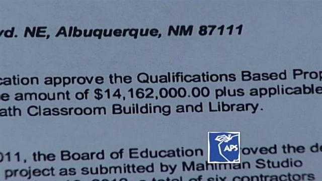 Sandia High School will be getting a multimillion dollar state of the art classroom building, and it's going to cost taxpayers a huge chunk of money. Out of six different contractors, APS went with the most expensive bid.