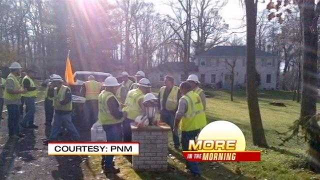 Crews talk about their trip to the east coast as they helped restore power to thousands of victims affected by Hurricane Sandy.