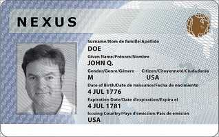 """DHS """"Trusted Traveler"""" cards (Global Entry, NEXUS, SENTRI, FAST)"""