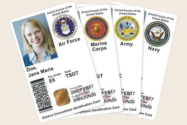 U.S. Military ID (active duty or retired military and their dependents, and DOD civilians)