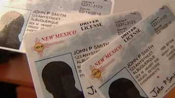 Starting in Jan. 15, 2013, New Mexico driver's licenses will no longer be an acceptable form of identification for getting on an airplane.