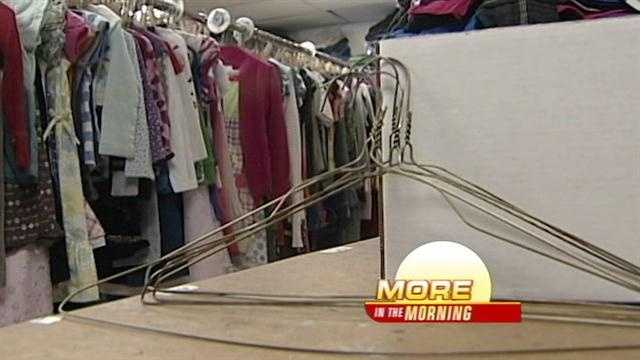 The non-profit organization is seeing many empty shelves and racks, leaving many kids without the things they need.