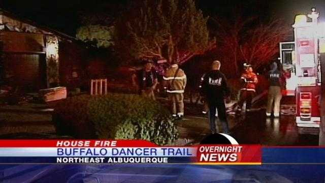 Overnight Fire Forces Family Out of Home