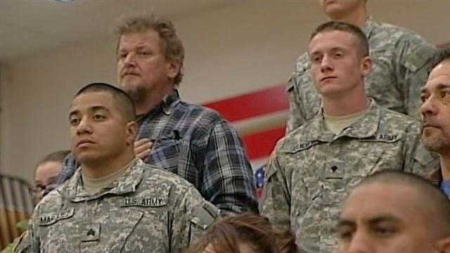 Today, hundreds of New Mexico soldiers were honored, for a successful mission in Egypt. The National Guard troops returned home this weekend after a nine month deployment.