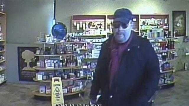 Police hunt man who's robbing pharmacies