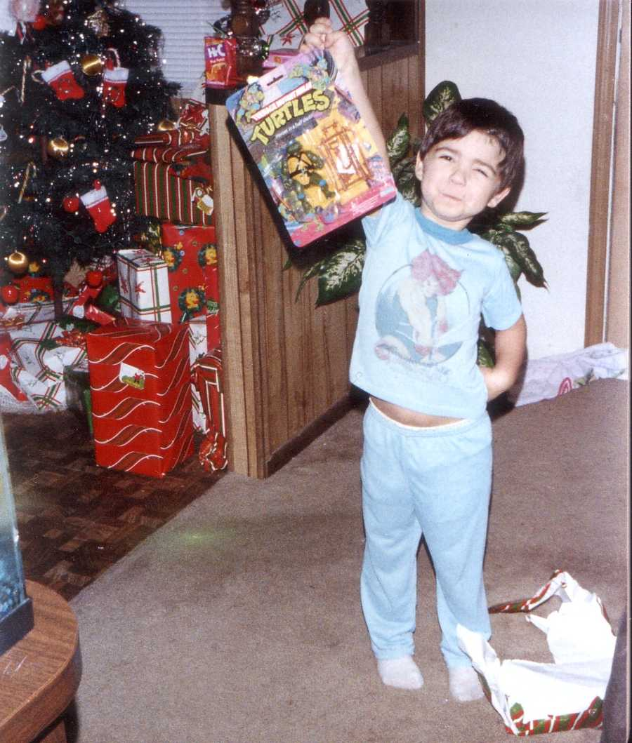 """""""Growing up, there was nothing better than the holidays. I can still remember my brother, sister and I waking up my parents bright and early on Christmas morning to open presents under the tree,"""" Orlando says."""