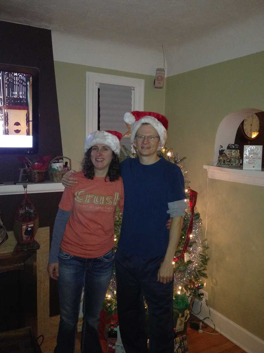 """Byron Morton says that on Christmas, someone in his family always has to play Santa. Santa is the one who sorts through and hands out all the gifts from under the Christmas tree. Here is a picture of Byron and his sister on Christmas Eve. """"Who makes the better Santa?"""" Byron said. """"Happy Holidays!"""""""