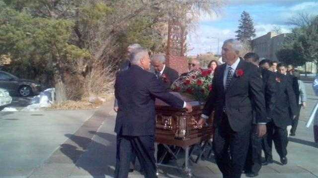 Funeral services for longtime New Mexico House Speaker Ben Lujan started Thursday with a public visitation in the rotunda of the state capitol.