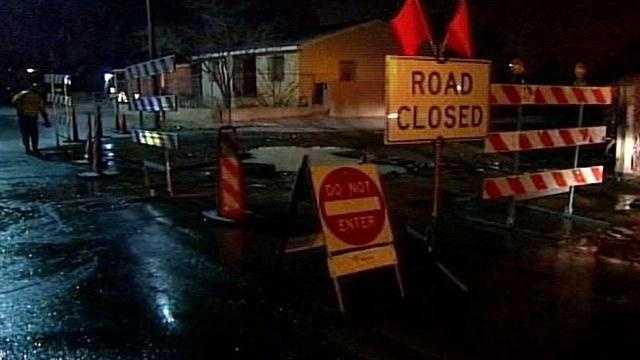 Southbound Prince St. SE blocked at Grape Ave. SE