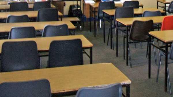 Generic empty classroom seats