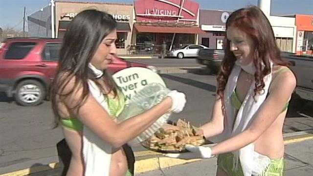 Scantily clad in fake lettuce, two women did their best to convert meat eaters into vegans in Nob Hill Thursday afternoon. Click through this slideshow to see photos of the event.