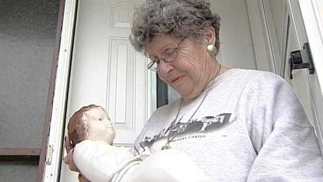 A baby Jesus stolen from a manger on Christmas morning shows up one month later on a doorstep.