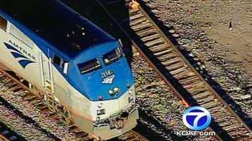 See Sky 7 photos from the scene where a teen died after being hit by an Amtrak train.