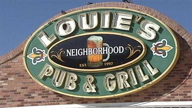 A northeast Albuquerque pub and grill was hit with a red sticker recently.