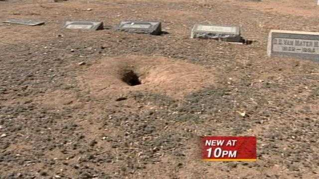 Cemetery erects fence to keep out prairie dogs