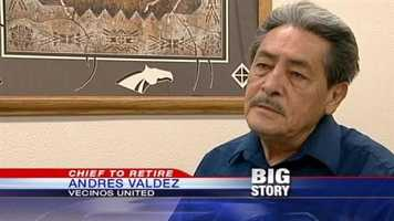 "Andres Valdez of Vecinos United: ""It's a victory. We have a whole list of issues, concerns since the chief was hired."""