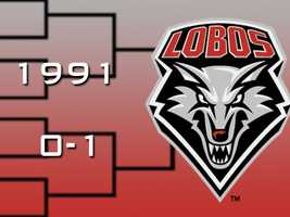 After a 13-year drought, the New Mexico Lobos returned to the NCAA tournament in 1991 under Coach Dave Bliss. The 14th seeded Lobos lost by 13 to Oklahoma State.