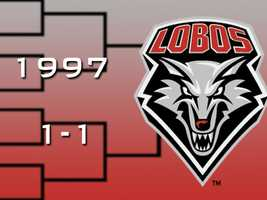 A year later, New Mexico entered the tournament as a No. 3 seed. The Lobos slipped by Old Dominion in the first round before being upset by Louisville in the second round.
