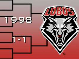 In 1998, No. 4 UNM beat Butler in the first round by 17 before losing to Syracuse in the Round of 32.