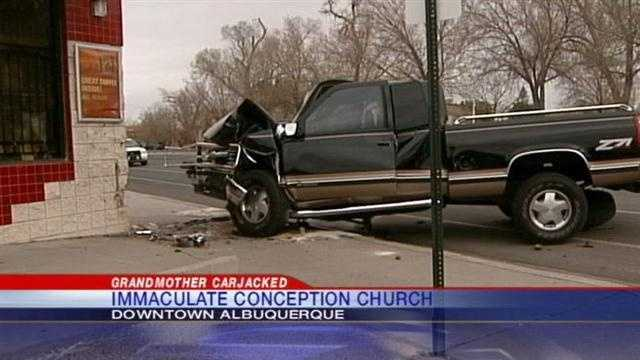 An Albuquerque grandmother said she was carjacked while on her way to church.