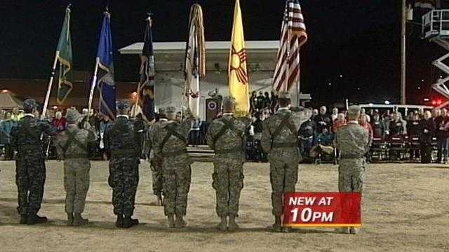 A memorial death march honoring those who came home and those who didn't was held Sunday at White Sands Missile Range.