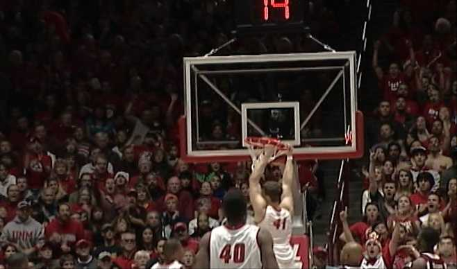 7. Rio Grande Rivalry:  The Lobos swept New Mexico State at home and on the road in one week. New Mexico's win at the Pan American Center was the Aggies only home loss of the season. Game 1: 73-58, Game 2: 68-63.
