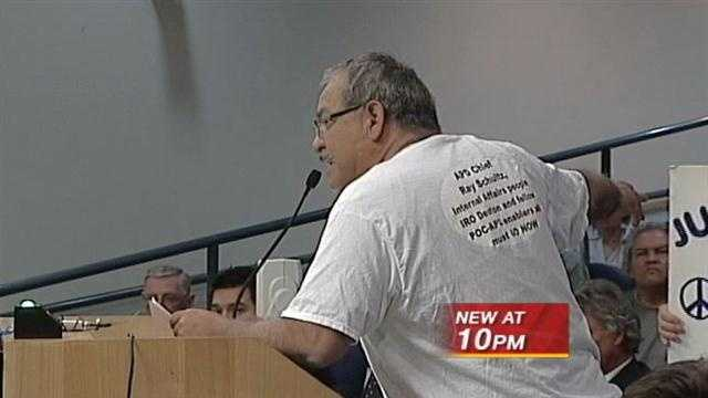 Many citizens gave the council an earful over Chief Ray Schultz' plan to retire.