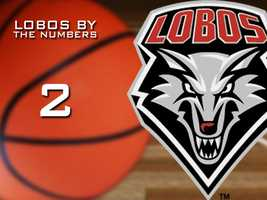 2: The RPI for the New Mexico Lobos entering the NCAA tournament.