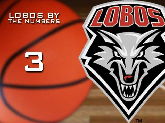 3: Number of times the Lobos have won the Mountain West Conference tournament.