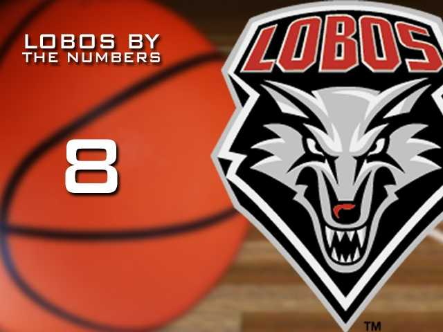 8: Number of wins in the NCAA tournament for the New Mexico Lobos entering 2012.