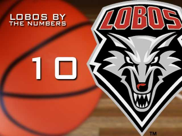 10: The highest ranking the Lobos earned all season in either polls.