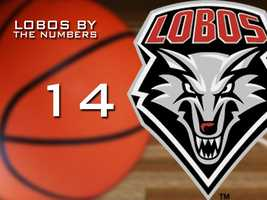 14: Number of single digit wins the Lobos had this season