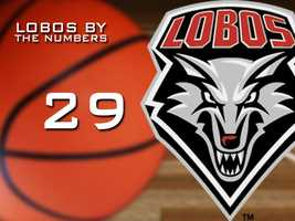 29: Number of games the Lobos have won entering the Mountain West tournament. The Lobos won 30 games in their best season.