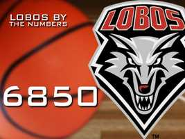 6,850: The amount of minutes the Lobos shared in all games before the NCAA tournament.