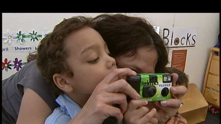 Local homeless preschoolers will use donated cameras to document of their lives.