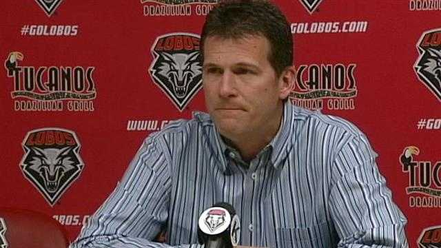 See highlights from Saturday's news conference where Steve Alford announced that he was leaving the New Mexico Lobos.
