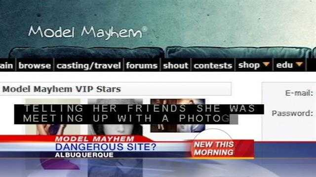 Several women in Colorado have gone missing after using the website Model Mayhem. Now some in Albuquerque are wondering if they could be next.
