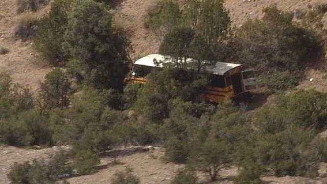 State police continued to investigate if a bus driver suffered a medical episode before crashing 100 feet down an embankment near Vallecitos.