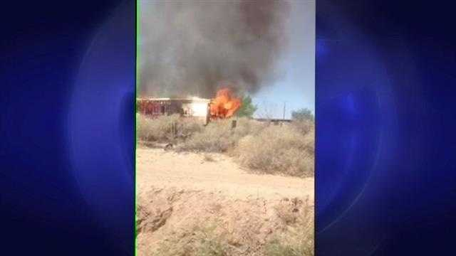 A trailer some south valley residents thought was a meth lab goes up in flames and it was caught on camera.