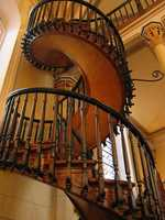 In Santa Fe's Loretto Chapel sits a staircase with two 360 degree turns and no visible means of support. The staircase was also built without nails.