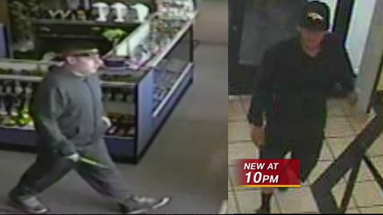 Surveillance video shows serial armed robbers