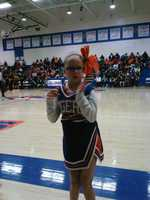 Nicole cheering