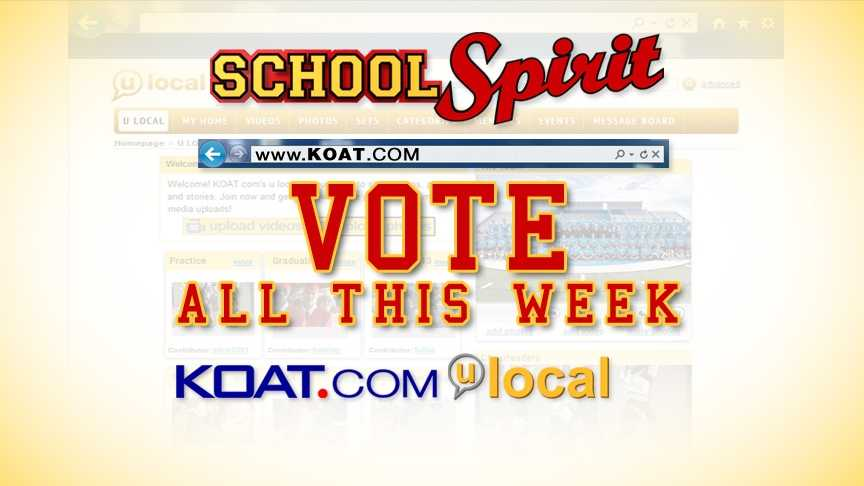 Click here to vote for your favorite School Spirit photo.