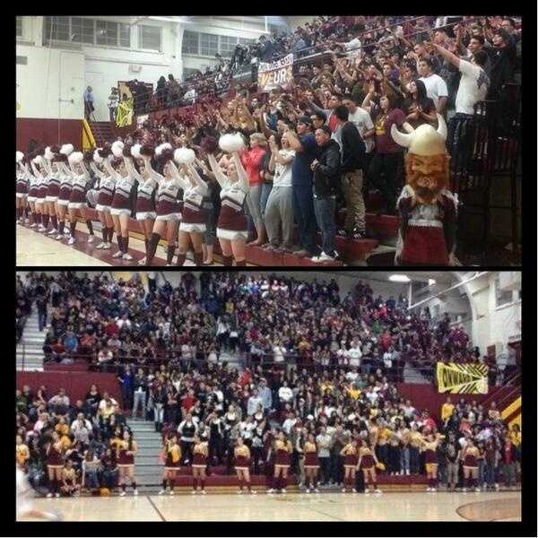 Valley Vikings student section showing school spirit!