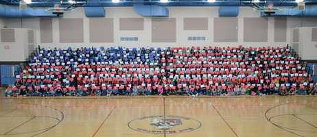 Red Mountain Middle School in Deming NM showed their school spirit as they honored Veteran's Day.