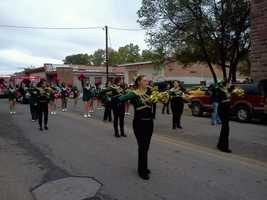 WLV Dance team marching in parade