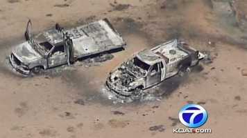 See photos from Monday's fire at New Mexico Tech'sexplosives research/testing site.
