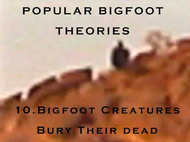 10. Bigfoot creatures bury their dead