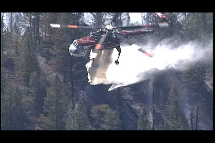 See Action 7 News photos of a wildfire burning in the Pecos Canyon.