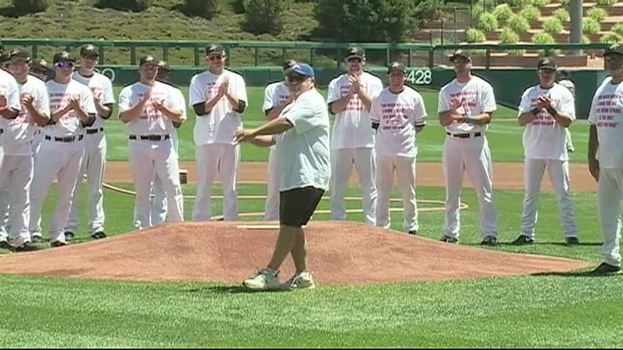17 year old Zak Lannon has been battling a rare and aggressive form of cancer.  The community has rallied behind him including the Albuquerque Isotopes.